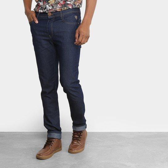 a03471375 Calça Jeans Reta Cavalera Básica Masculina - Azul Escuro