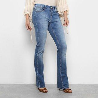 f4d66e60d5 Calça Jeans Flare Carmim Ariana Cintura Média Feminina
