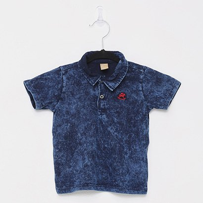 Camisa Polo Infantil Up Baby Listras Masculina