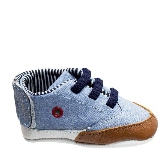 8d7d2d07430 Tênis Recém Nascido Ortopé Tecido 272262 - Jeans - Compre Agora ...