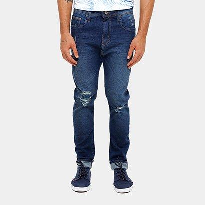 Calça Jeans Skinny Colcci Enrico Gancho Grande Rasgos Masculino
