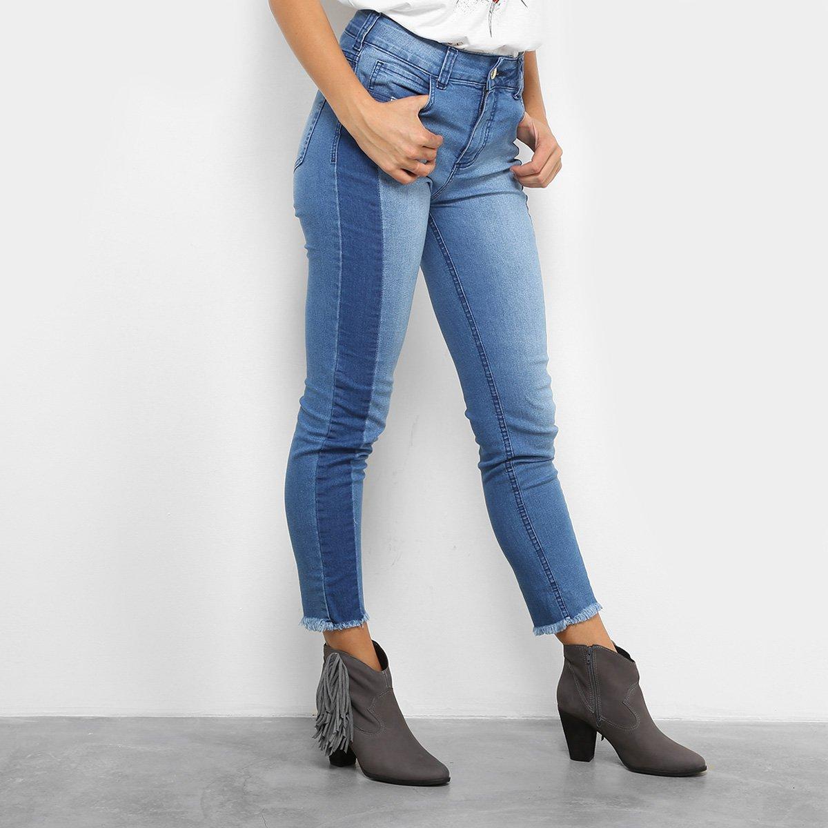 481637d3c Calça Jeans Skinny Colcci Base Bia Barra Desfiada Cintura Alta Feminina.  undefined