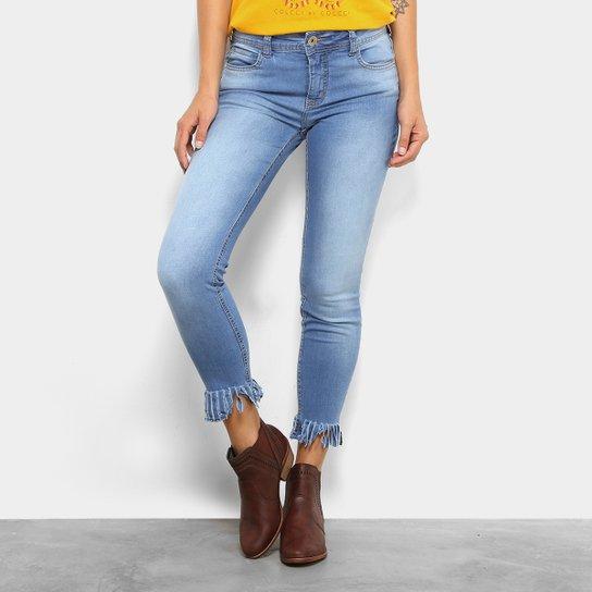 7bbeebf2c994d Calça Jeans Skinny Cintura Média Colcci Franjas Barra Feminina - Jeans