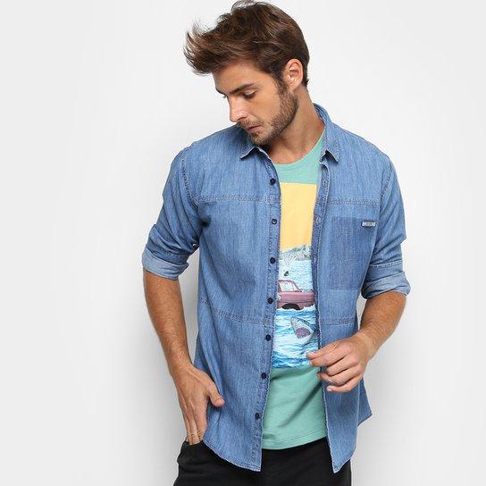 2881c14c4 Camisa Jeans Colcci Manga Longa Slim Masculina | Netshoes