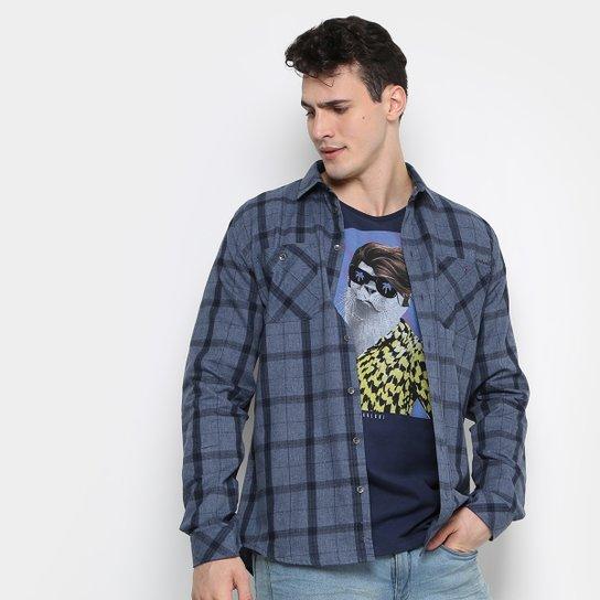 Camisa Xadrez Colcci Slim Fit Indigo Masculina - Jeans - Compre ... 7e6c046035