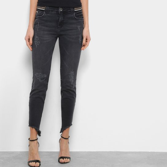 b468b6a03 Calça Jeans Colcci Fátia Destroyed Elástico Cintura Feminina | Netshoes