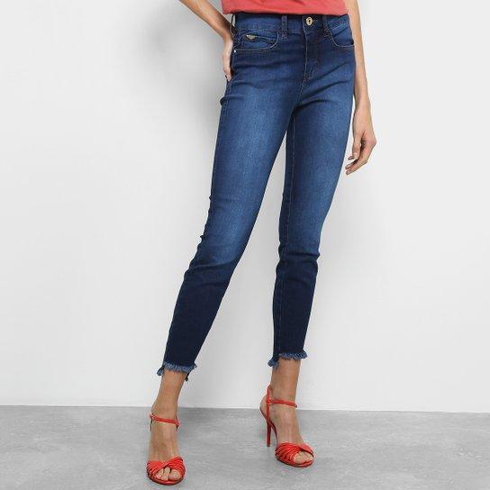 ad9d22e6c Calça Jeans Cigarrete Colcci Cory Cintura Média Feminina - Azul Escuro
