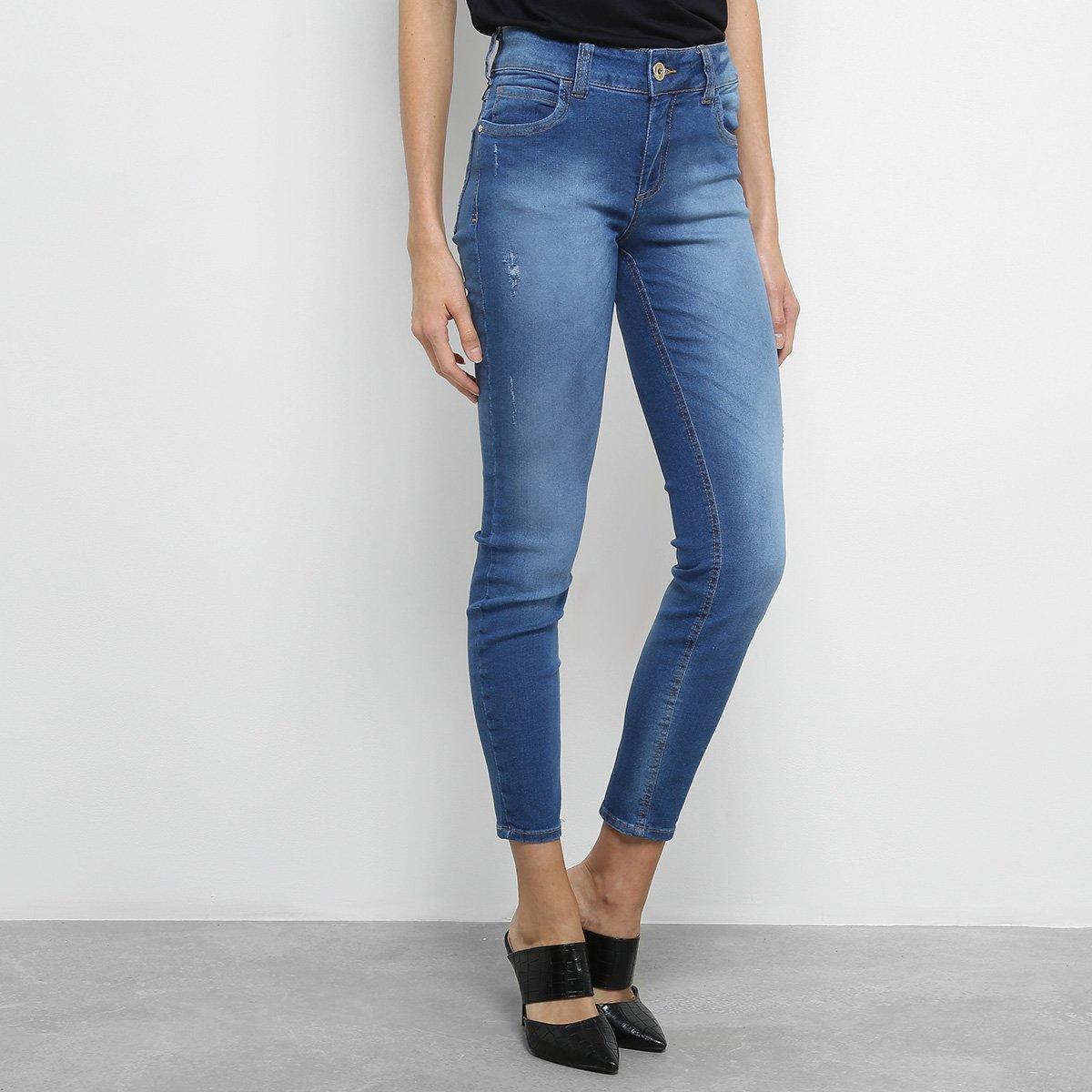 59dd0b770 Calça Jeans Skinny Colcci Estonada Cintura Média Feminina