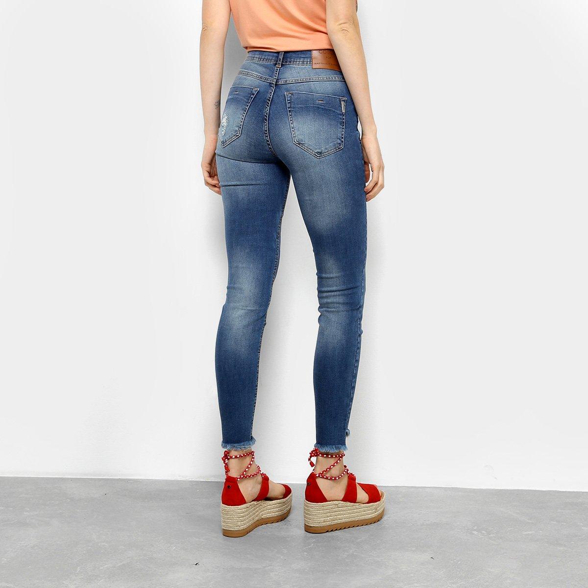 f97ab1d4f ... Foto 2 - Calça Jeans Cigarrete Colcci Bia Estonada Rasgos Cintura Alta  Feminina