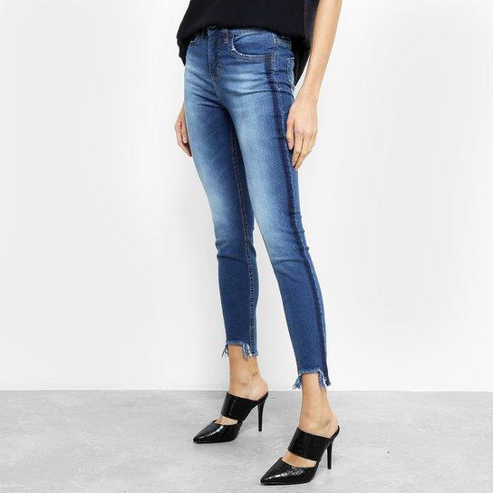 0953b8122 Calça Jeans Skinny Colcci Cory Cintura Média Feminina - Azul | Netshoes