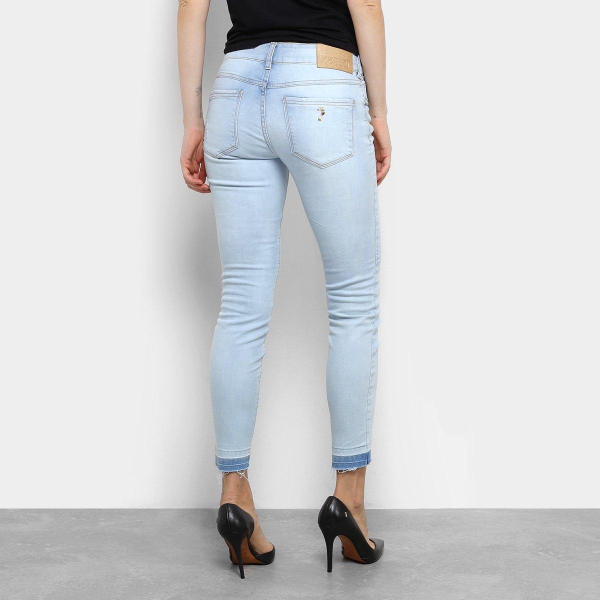 e66daef09 Calça Jeans Skinny Colcci Fátima Barra Assimétrica Cintura Média ...