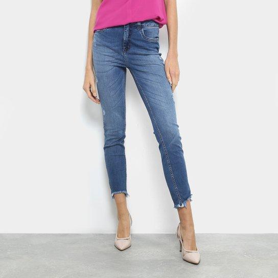 Calça Jeans Cigarrete Colcci Kim Cintura Média Feminina - Azul ... 6a31d60b21c