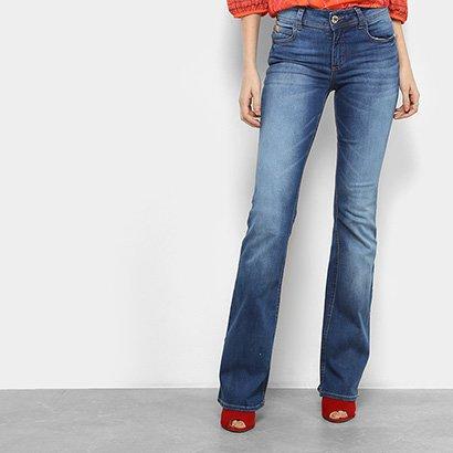 f6ce15bef Calça Jeans Bootcut Colcci Estonada Cintura Média Feminina