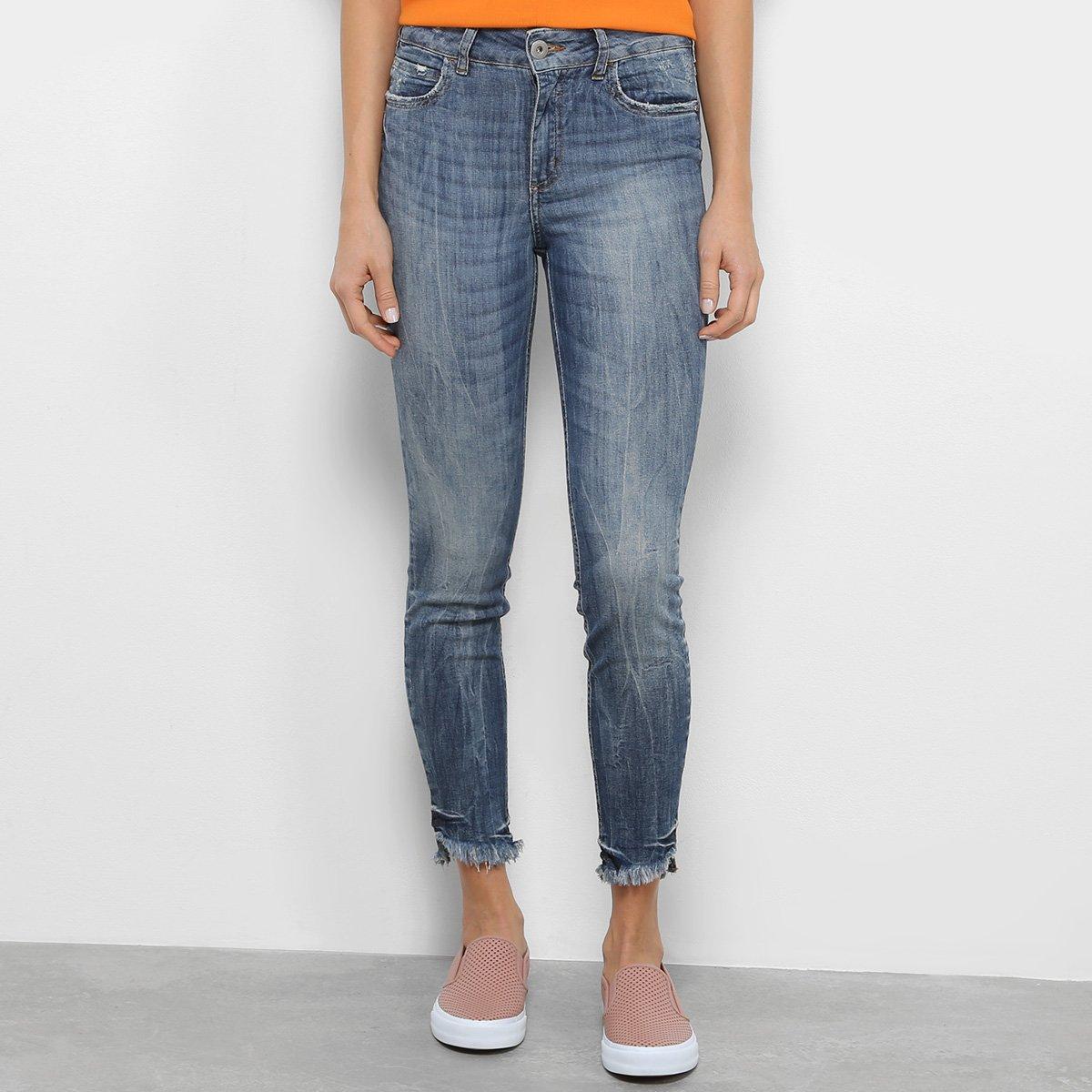 50a8c02bd Calça Jeans Skinny Colcci Bia Estonada Feminina