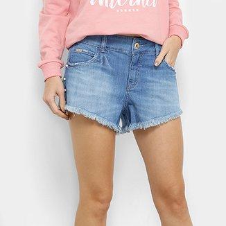 d78cafc1a Short Jeans Colcci Tomboy Cintura Média Feminino