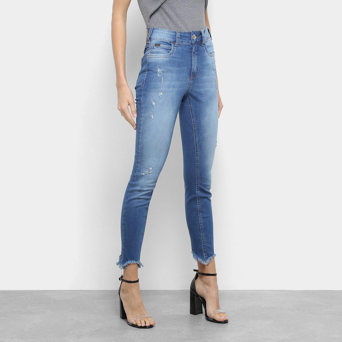 8d66c65ec Calça Jeans Skinny Colcci Barra Desfiada Cintura Alta Feminina