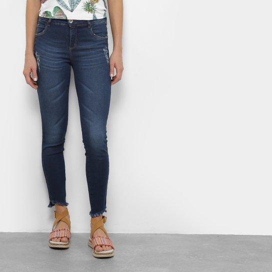 6e2b6a6ba Calça Jeans Skinny Colcci Fátima Cintura Média Feminina - Azul ...