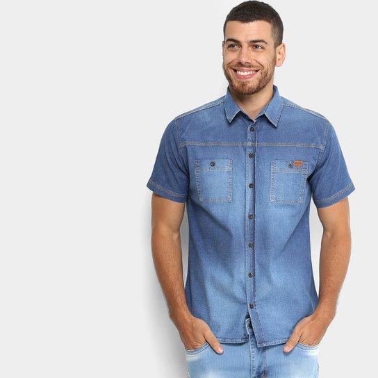 eb38103ba8 Camisa Jeans Colcci Manga Curta Estonada Masculina | Netshoes