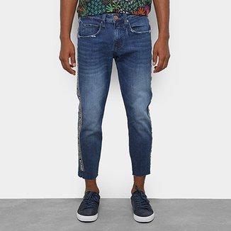 Calça Jeans Slim Colcci John Cropped Estonada Masculina e56ba22303fc9
