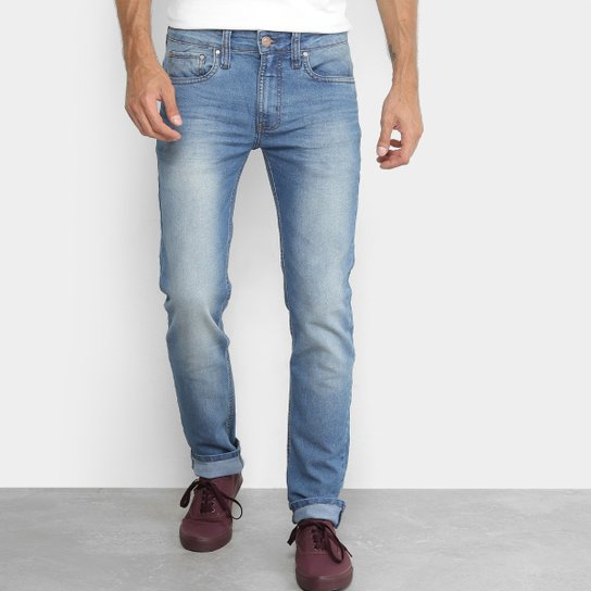 f99ac107c Calça Jeans Skinny Colcci Estonada Alex Masculina - Azul - Compre ...