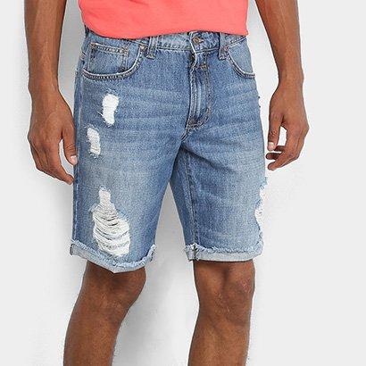 Bermuda Jeans Colcci Estonada Davi Masculina