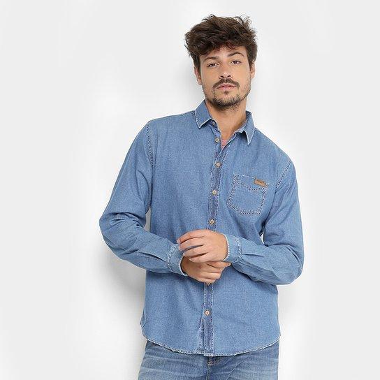 33fa6dc035 Camisa Jeans Manga Longa Colcci Masculina - Compre Agora