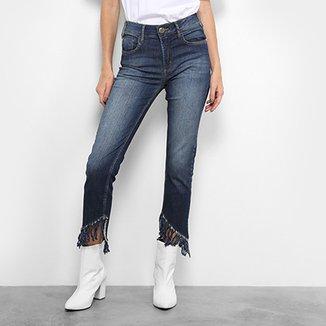 1b4847343 Calça Jeans Forum Marisa Cropped Desfiada Feminina