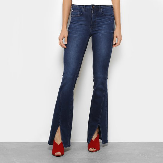 32e89cd9a Calça Jeans Flare Forum com Fenda Feminina - Jeans - Compre Agora ...