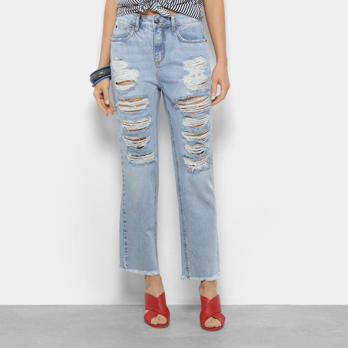bc24d9add Calça Jeans Boyfriend Forum Lolita Cintura Média Feminina - Tam  36 ...