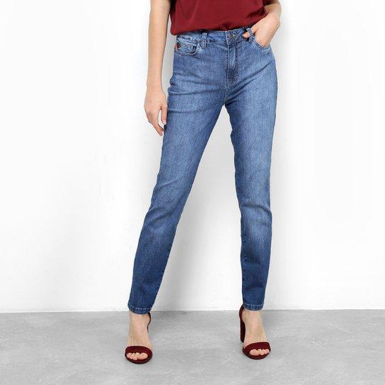 440d76abdc1fd Calça Jeans Skinny Ellus Elastano Higher Etiqueta Couro Cintura Média  Feminina - Azul