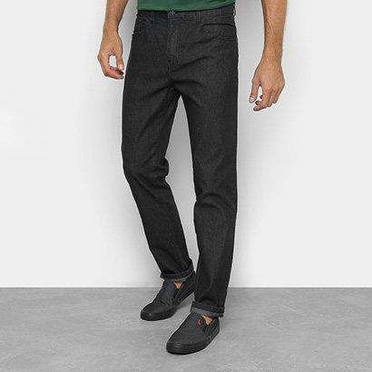 Calça Jeans Slim Ellus Lavagem Escura Cintura Média Masculina