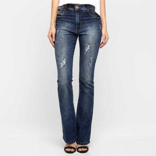 17829f6de Calça Jeans Sawary Flare Puídos | Netshoes