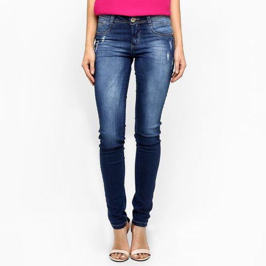81c89620afb Calça Jeans Sawary Skinny Puídos - Jeans