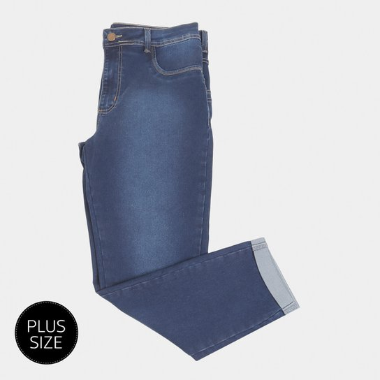 3540b5e78 Calça Jeans Skinn Sawary Cropped Plus Size Feminina | Netshoes