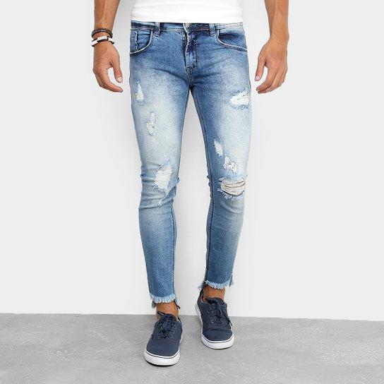 c48ed87c2 Calça Jeans Super Skinny Sawary Rasgada Masculina - Compre Agora ...