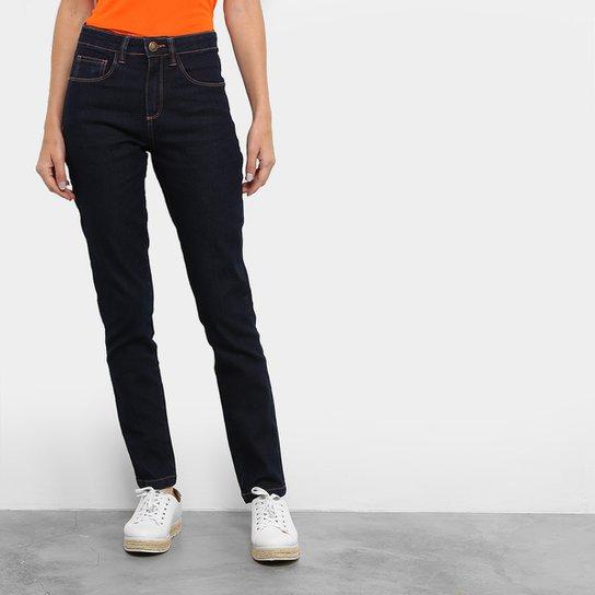 4e2922d07c Calça Jeans Skinny Cantão Lavagem Escura Cintura Alta Feminina - Jeans