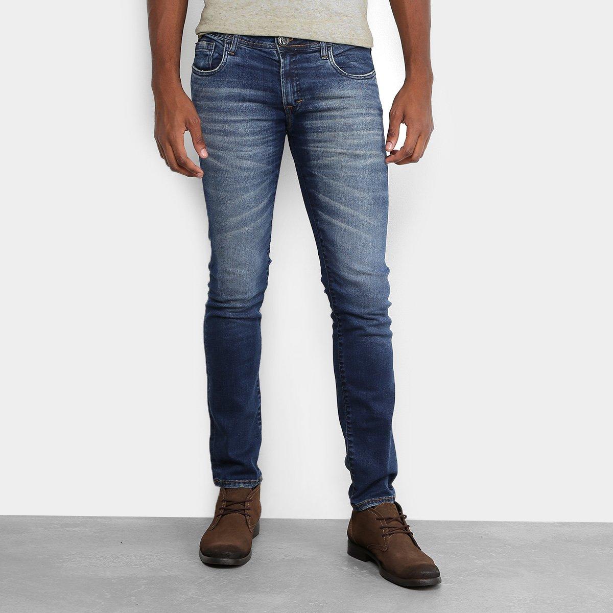 c03d41fb7 Calça Jeans Skinny Opera Rock Estonada Masculina