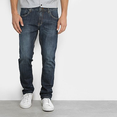 Calça Jeans Slim Aleatory Estonada Masculina