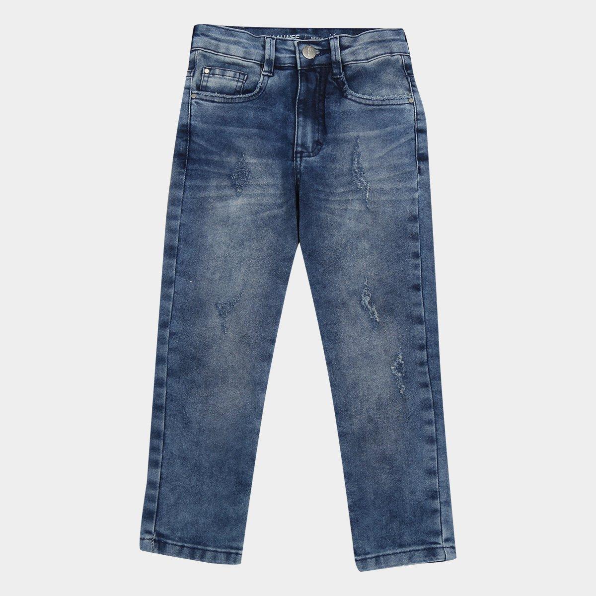 Calça Jeans Juvenil Malwee Skinny Estonada Masculina