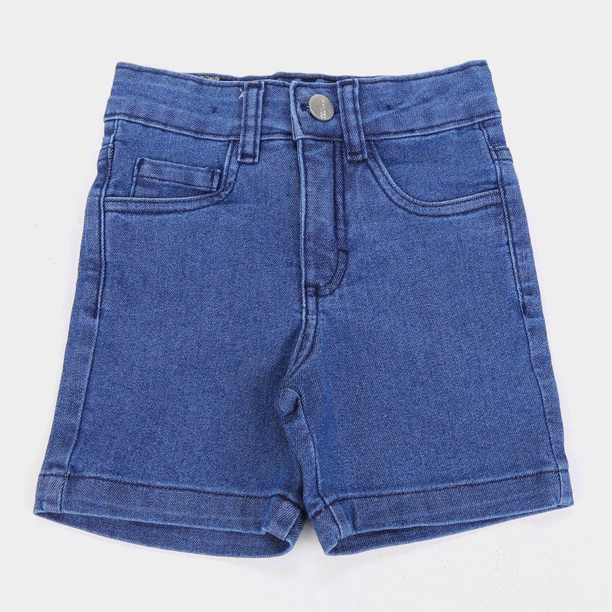 Bermuda Infantil Jeans Malwee Básica Masculina