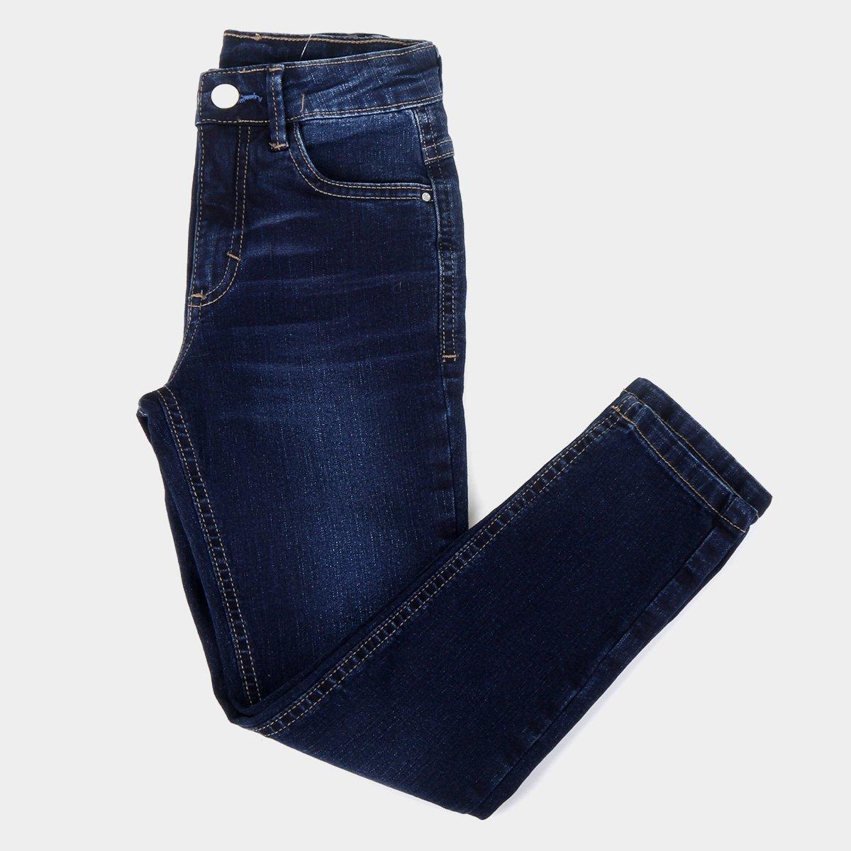Calça Jeans Infantil Malwee Skinny Básica Feminina