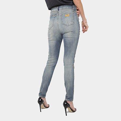 d8fa3faa4 ... Calça Jeans Skinny Lança Perfume Estonada Cintura Alta Feminina. Passe  o mouse para ver o Zoom