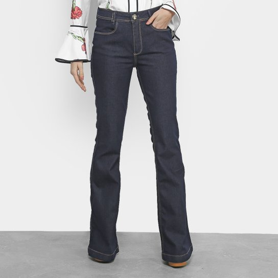 4d067a513 Calça Jeans Flare Lança Perfume Lisa Feminina - Azul Escuro
