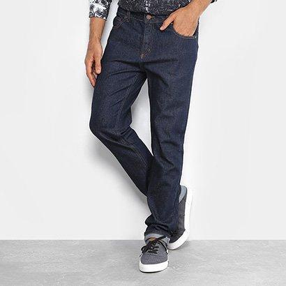 Calça Jeans Slim Foxton Fit Lavagem Escura Masculina