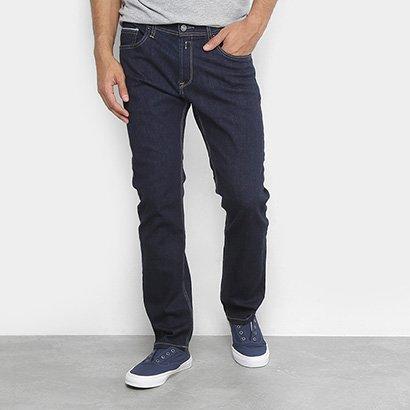 Calça Jeans Reta Replay Lavagem Clássica Masculina