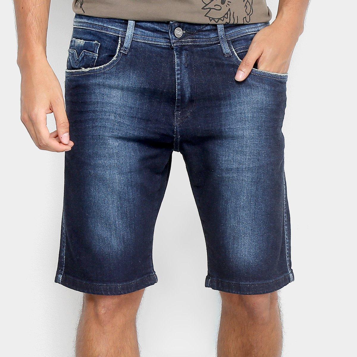 27773eb3f Bermuda Jeans Replay Anbass Masculina
