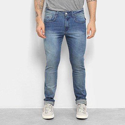 Calça Jeans Skinny Replay Estonada Anbass Masculina
