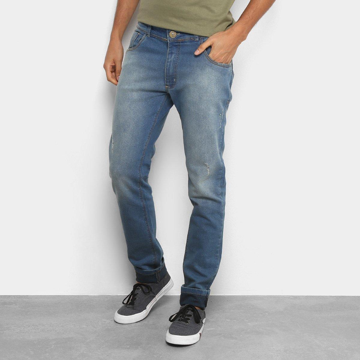 Calça Jeans Coffe Slim Lavegem Clara Esverdeada Masculina a423939d05689