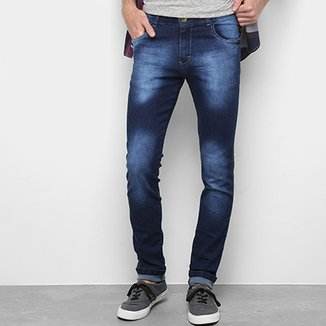 a146adce09fb5 Calça Jeans Skinny Coffee Estonada Masculina