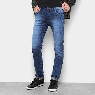 d85d3eeba75db Calça Jeans Skinny Marmorizada Masculina
